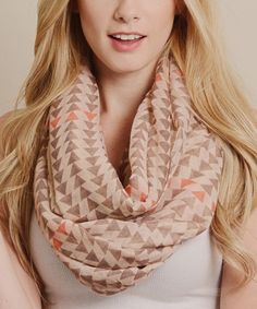Look what I found on #zulily! Coral Small Triangle Infinity Scarf by Leto Collection #zulilyfinds