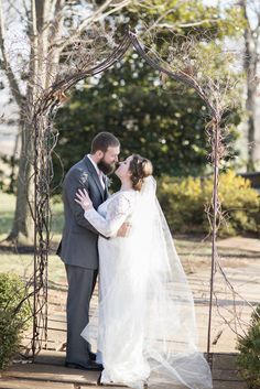 Wedding pictures at Trump Winery in Charlottesville, Virginia | Bride and groom