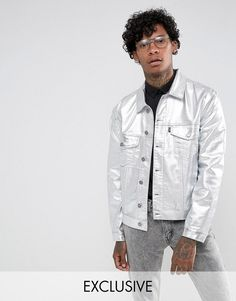 Get this Jaded London's denim jacket now! Click for more details. Worldwide shipping. Jaded London Denim Jacket With Metallic Silver Coating - Grey: Denim jacket by Jaded London, Midweight denim, Metallic silver finish, Classic point collar, Button placket, Functional pockets, Regular fit - true to size, Machine wash, 99% Cotton, 1% Elastane, Our model wears a size Medium and is 188cm/6'2 tall, Exclusive to ASOS. Proudly made in the UK, Jaded London takes its inspiration from global…