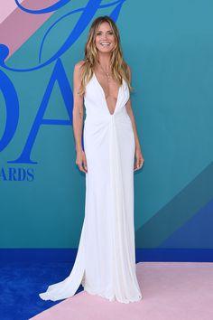 June 5 2017 - CFDA AWARDS - Heidi Klum wore a plunging Zac Posen gown