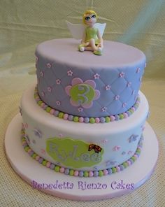 Tinkerbell Birthday Cake By AdventuresInCaking on CakeCentral.com