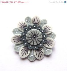 Hey, I found this really awesome Etsy listing at https://www.etsy.com/listing/193303698/summer-sale-anemone-felt-brooch-with