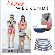 An entire outfit of red, blue, and white stripes - too much or too rad?