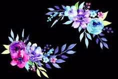 Watercolor Clipart Twilight - Illustrations