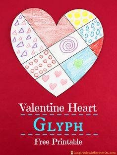 Valentine Heart Glyph (from Inspiration Laboratories) Valentine Theme, Valentines Gifts For Boyfriend, Valentines Day Party, Valentines For Kids, Valentine Day Crafts, Valentines Day Activities, Secret Code, School Holidays, Glyphs