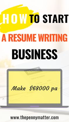 How to Start a Resume Writing Business. Learn how to make money online offering resume writing services. This is the best ways to make money online business. Best Small Business Ideas, Business Tips, Business Resume, Business Planning, Make Money Online, How To Make Money, Resume Writing Services, Successful Online Businesses, Online Marketing