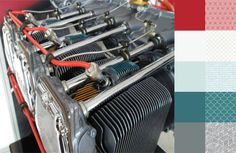 Lycoming Engine #ColorPlayFriday #123quilt #color #palette #colorpalette #colorinspiration #fabric http://123quilt.blogspot.com/2016/06/color-play-friday-lycoming-engine.html