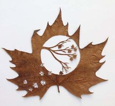 """""""OTOÑO"""" ~ leaf cutting by Lorenzo Duran Leaf Art, Nature Crafts, Oeuvre D'art, Oeuvres, Autumn Leaves, Fallen Leaves, Paper Cutting, Amazing Art, Paper Art"""