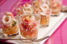 Receita Dedo de Moça: Ceviche de lula e camarão com melancia