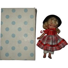 """#114, Painted Bisque, Jointed, Nancy Ann Story Book Doll """"Over the Hills"""" - #114, Painted Bisque, Jointed, Nancy Ann Story Book Doll """"Over the Hills"""""""