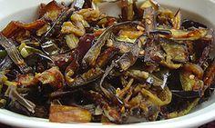Batu moju:Egg plant curry. This is my pregnancy craving when my daughter was in my tummy.    weligama batu moju : Sri Lanka Recipes : Malini's Kitchen