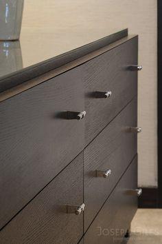 Joseph Giles ribbed pull handles on cabinet doors | Art Deco ...