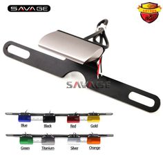 Universal Motorcycle Accessories CNC Aluminum License Plate LED Light For TRIUMPH Daytona 675/R Speed Triple Tiger 800/1050