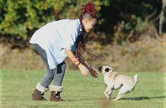 Leigh-Anne from the band Little Mix (X factor Winners) with her pet pug pooch Harvey