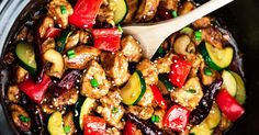 Slow Cooker Kung Pao Chicken, The Easiest Crowd-Pleaser You'll EVER Make!