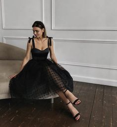 """black elegant dress by larne"" Event Dresses, Ball Dresses, Prom Dresses, Formal Dresses, Pretty Dresses, Beautiful Dresses, Black Dress Outfits, Fancy Black Dress, Rock Chic"