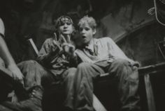 The two Coreys on set of The Lost Boys