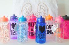 PINK water bottles