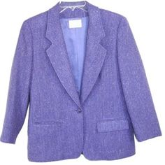 Pendleton women's wool blazer in purple  tweed: I thrifted this for 6 dollars!