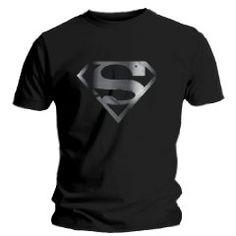 """[Amazon] T-Shirt Homme Noir Superman """"Silver Foil Logo"""" Taille S (20,51 euros)"""