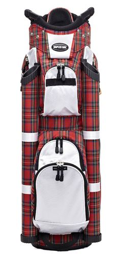 Check out our new Red Plaid Naples Bay if you need a very organize golf bag! #golf #golfbags #lorisgolfshoppe
