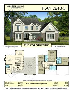 Greater Living Architecture in Rochester, NY provides premier home plans for any stage of life from Starter to Luxury to Empty Nester homes. Sims House Plans, Two Story House Plans, Two Story Homes, House Floor Plans, The Plan, How To Plan, Sims Building, Building A House, Building Ideas