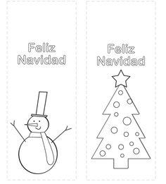 Marcapáginas Navidad. Christmas. http://dibujos-para-colorear.euroresidentes.com/2013/12/marcapaginas-de-navidad-para-colorear.html