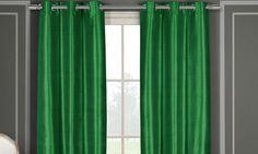 """Heavy Faux Silk 40""""x84"""" Grommet Window Panel Pair: Heavy Faux Silk 40""""x84"""" Grommet Window Panel Pair"""