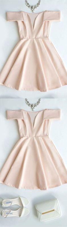 Homecoming Dresses 2018 pink short cute prom dress, pink homecoming dress, simple bridesmaid dress