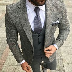 Classy # suit and tie  #londonfashion  #italiandesign