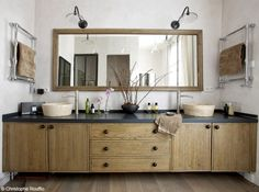 healthy living catalog by amerimark catalog online order store Interior Exterior, Interior Design, Space Place, Wood Vanity, Industrial Bathroom, Home Living Room, Home Accents, Master Bathroom, Bathroom Vanities