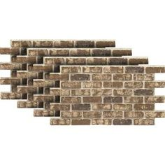 Urestone Chestnut 24 in. Faux Used Brick Panel - - The Home Depot Brick Paneling, Home Improvement, Paneling, Remodel, Stone Siding, Brick, Stone Veneer, Kitchen Remodel, Kitchen Remodeling Projects