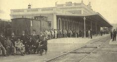 El Rey Alfonso XIII en la Estación El Carmen de Murcia, 1915.King Alphonse XIII at El Carmen Station of Murcia, 1915.