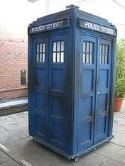 Wish I had one of these!  It's a TARDIS.  Time And Relative Dimensions In Space. A Time Machine!!!  ;0