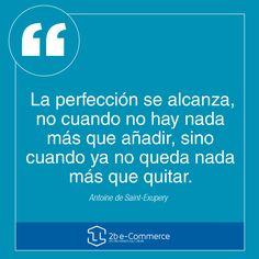 El concepto errado de muchos emprendedores seria este. A veces, ¡menos es más! #Emprendedores #eCommerce #Perfeccion