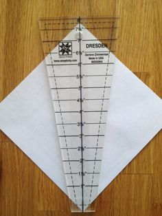 drawing dresden wedge template