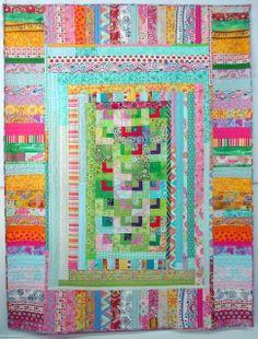 Good idea from my quilt - I like the border.    Ms. Elly Pastelly by Melody Johnson Quilts, via Flickr