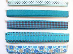 Beautiful set of blue grosgrain ribbons
