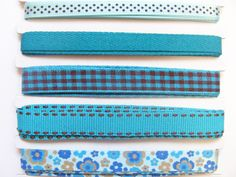 Beautiful set of blue grosgrain ribbons
