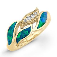 Opal and Yellow Gold Ring