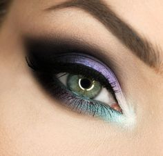 'Dark Fairy' look by Gajewska.wiktoria using Makeup Geeks Corrupt, Mermaid, Vanilla Bean, and White Lies eyeshadows.