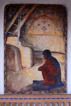 New Mexico Museum of Art - Santa Fe    Mural by Will Schuster