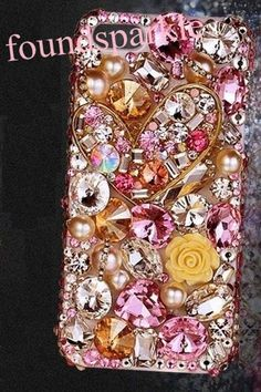 Bling flower phone case Sparkle Crafts, Cool Cases, Galaxy S5 Case, Iphone 5c Cases, Floral Tie, Girly, Bling, Unique Jewelry, Handmade Gifts