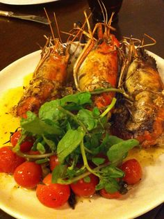 River Prawns in Anchovy Butter at Grace Park by Margarita Fores. Starbucks Sandwiches, Prawn, Shrimp, Grace Park, Incredible Edibles, Tandoori Chicken, Allrecipes, Margarita, Seafood