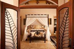 Beautiful teak canopy bed offered at Hale Zen, Maui, Hawaii. Minimalist Bed, Minimalist Home Decor, Minimalist Interior, West Maui, Canopy, Teak, Maui Hawaii, Interior Design, Mirror