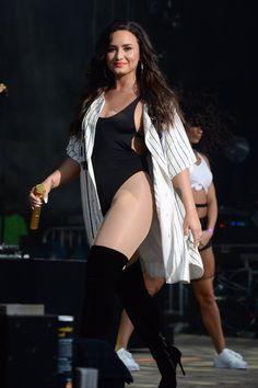 Demi Lovato performs at the 2017 Billboard Hot 100 Festival
