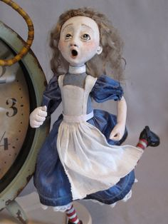 I'm Late Alice In Wonderland Clock por FriedericyDolls en Etsy