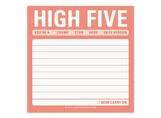 Cool Office Supplies | High Five Sticky | KNOCK KNOCK