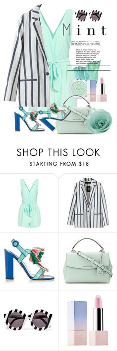 """""""Minty"""" by atie-212 ❤ liked on Polyvore featuring Paul Andrew, MICHAEL Michael Kors, House of Holland and Sephora Collection"""