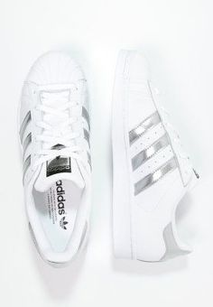 6305f7d37cee1 adidas Originals SUPERSTAR - Baskets basses - white silver metallic core  black - ZALANDO
